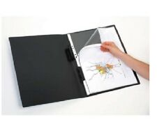 A3 BLACK DISPLAY COURSEWORK PORTFOLIO BOOK 20 POCKETS ADD & REMOVE SLEEVES p/f