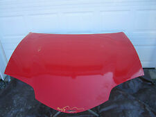 98 99 00 01 02 PONTIAC FIREBIRD HOOD WITH OUT RAM AIR BRIGHT RED OEM