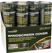 Brookstone Car Windscreen Cover Protect From Frost Quick Easy Fit Suction Cups