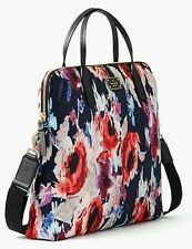 New Kate Spade Blake Avenue Daveney Black Hazy Floral Laptop Case Bag Red