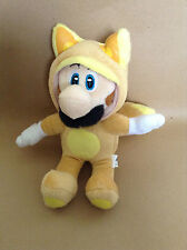 Super Mario Plush Teddy - Kitsune Luigi Soft Toy - Size:20cm - NEW
