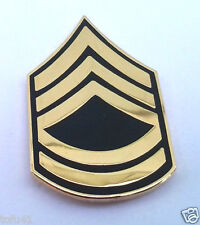 US ARMY RANK  E7 SERGEANT FIRST CLASS SFC Military Veteran Hat Pin 14428 HO