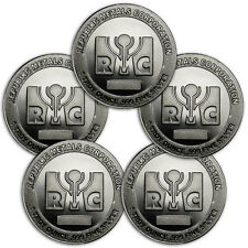 Republic Metals Corporation 1 Troy Oz Silver Round - Lot of 5 Rounds SKU31536
