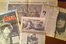 Dr Who,Press Clipping Newspaper  LOT 2 UNITED STATES 1980s, TOM BAKER,scrapbook