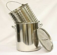 42 qt Quart 10 Gal Stainless Steel Stock Pot Steamer /Boil Basket Beer Brew Fry