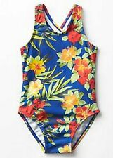 BABY GAP GIRL RUFLLE BLUE FLORAL ONE-PIECE SWIMSUIT NWT 18-24m N7