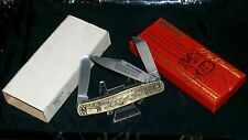 Imperial Stockman Knife Bronze Handles A.J. Foyt Ser #11748 W/Packaging,Sleeve