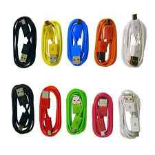 Wholesale LOT 10 x Color Round Micro USB B Data Sync Charging Cable Cell Phone