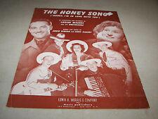 The Honey Song 1942 Sheet Music Arbie Gibson Curt Massey