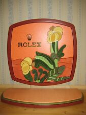 GENUINE ROLEX OYSTER PERPETUAL SHOP WINDOW DISPLAY STAND ART-DECO FLOWERS UNUSED