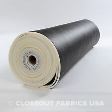 """1/4"""" FOAM BACKED MARINE OUTDOOR LEATHER VINYL FABRIC BOAT AUTO UPHOLSTERY 54""""W"""