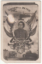CARTE POSTALE  PHOTO  MILITAIRE HONEUR A LA PATRIE 75 BAF
