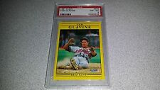 TOM GLAVINE 1991 FLEER #689 BASEBALL CARD PSA GRADED NM-MINT 8 LOW POP RARE