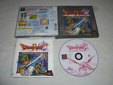 JAPAN IMPORT GAME PLAYSTATION DRAGON QUEST IV 4 W CASE & MANUAL ROLE PLAY ENIX