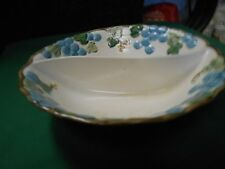 """Great POPPY TRAIL by Metlox China """"Sculptured Grape"""" Divided VEGGIE BOWL"""