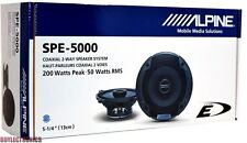 "Alpine SPE-5000 5-1/4"" Car Speakers/5.25"" Car Audio Speaker Type ESeries SPE5000"