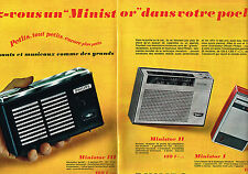 PUBLICITE ADVERTISING 064  1965  PHILIPS   transistor  MINISTOR  ( 2 pages)
