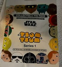 Disney Pins Tsum Tsum Star Wars Series 1 Mystery 5 Pin Pack SEALED FREE SHIPPING