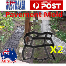 2PCS DIY Pavement Mold Driveway Paving Brick Patio Moldes Para Concrete Slabs