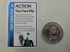 BATMAN FLUXX Two-Face PROMO Card & COIN New & Unplayed DC Comics BATMAN ANIMATED