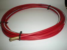 STEEL LINER 4MTR TO SUIT MB15/25  MIG WELD TORCH FOR 1.0 - 1.2mm (Red Coated)
