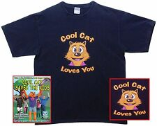 COOL CAT SAVES THE KIDS Movie and COOL CAT Shirt and COOL CAT Bilingual Book