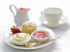 MODERN PHOTOGRAPHY BAKERY CREAM TEA SCONE JAM FOOD POSTER ART PRINT BB3115A