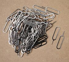 100 x Lot Eject Pin Tool - Key Opener open iPhone iPad SIM Card Tray Removal