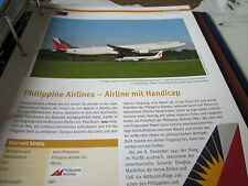 Airlines Archiv Philippinen Phillipine Airlines Airline mit Handicap 8S