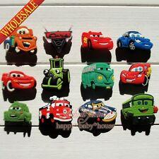 Random 100pcs Cars PVC Shoe Charms Shoe Buckles Fit Croc Bracelets Pary Gifts