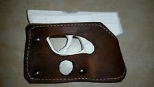 Taurus TCP pocket holster wallet shoot thru brown leather concealed carry
