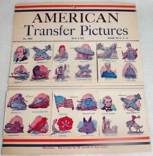 WWII VINTAGE ANTIQ KID TATTOOS AMERICAN TRANSFER PICTURES AWSOM DTL MADE IN USA2