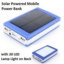 Solar Mobile/iPhone/Tablet/Camera Charger Portable Power Bank & LED Flashlight