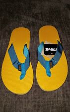 Women's TEVA Blue/Yellow Thong Sandals Size 5
