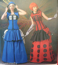 Simplicity 1095 DR WHO TARDIS DALEK Cosplay sz 14-22 Costume Sewing Pattern