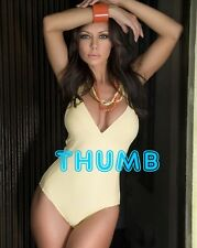 Crissy Moran - 10x8 inch Photograph #021 Curvacious in Low Cut Swimsuit