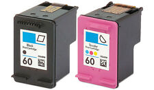 2pk #60 Ink For HP Deskjet D1660 D2530 D2560 D2645 D2680 F2400 F2430 F2480 F4210