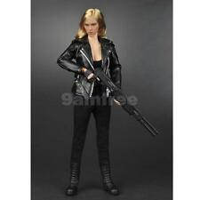1/6 Black Jacket + Pants + Vest Clothes Set for 12'' ZC Phicen Action Figure