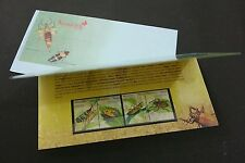 Insect Series III Malaysia 2007 Grasshopper Beetle Bug (presentation pack) MNH