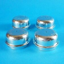 FREE P&P* 4 x 50mm Metal Grease Dust Wheel Hub Cap for Indespension Trailers etc