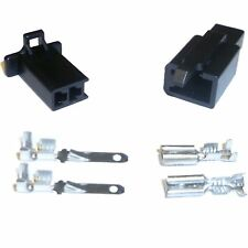 Motorcycle Mini-Latch - Wiring Connector Set (2.8mm) - 2 way (BLACK)