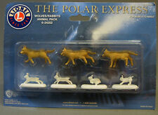 LIONEL POLAR EXPRESS WOLVES and BUNNIES train people figure 6-24252