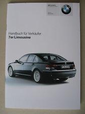 Verkäufer Handbuch BMW 7er E65 730 740 750 760 i Li 730d 745d Modelle 2006