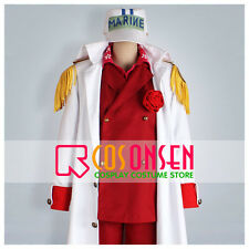 Cosonsen One Piece Marines Admiral Sakazuki Admiral Akainu Cosplay Costume Red