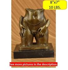 Erotic Nude Lady Bronze Sculpture Figurine Figure Signed Statue Art Deco Decor