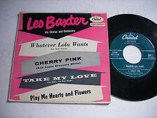 w PICTURE SLEEVE Les Baxter Whatever Lola Wants 1954 45rpm EP