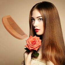 Natural Wide Tooth Wood Comb Peach Wood no-static Massage Hair Health Comb FE