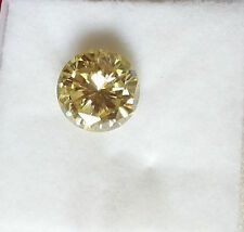 MOISSANITE OFF WHITE  YELLOW LOOSE REAL  1.28  CT  7.34  MM - TESTED US SELLER