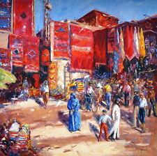 Christian Jereczek (geb. 1935)  -  Orientalischer Teppichmarkt    (# 1375)