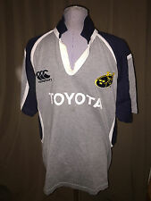 Munster Rugby gray blue Canterbury Toyata Team Rugby Shirt XL